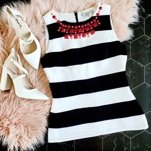 Banana Republic Striped Embellished Tank